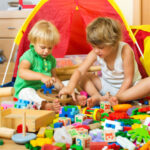 How do I organize my child's toys?